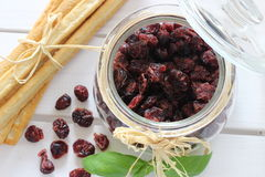Dried cranberries, biscuits, italian food, italian snacks, italian biscuits Royalty Free Stock Photos