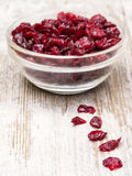 Dried Cranberries in Bowl Stock Photo