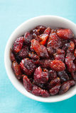 Dried cranberries in a bowl Royalty Free Stock Photo
