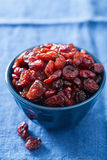 Dried cranberries in a bowl Stock Image