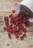 Dried cranberries in a bowl Royalty Free Stock Photography