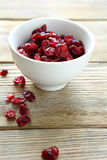 Dried cranberries in a bowl Stock Photos