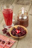 Dried cranberries in a bowl. Healthy super food. Dried cranberries on the kitchen table. Diet food. Stock Images