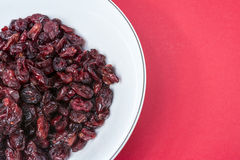 Dried cranberries in a bowl Royalty Free Stock Image