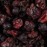 Dried cranberries, cherries and blueberries Royalty Free Stock Photo