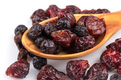 Dried cranberries, cherries and blueberries Stock Photos