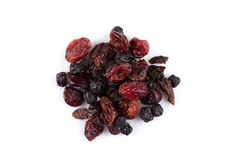 Dried cranberries, cherries and blueberries Stock Photo