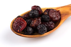 Dried cranberries, cherries and blueberries Stock Image