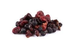 Dried cranberries, cherries and blueberries Royalty Free Stock Photography