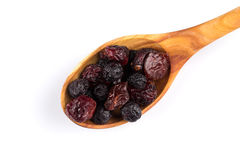 Dried cranberries, cherries and blueberries Royalty Free Stock Image