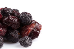 Dried cranberries, cherries and blueberries Stock Photography