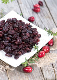 Dried Cranberries Stock Photo