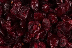 Dried cranberries  on white Stock Image