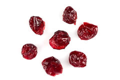 Dried cranberries  on white Royalty Free Stock Image