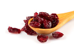 Dried cranberries  on white Stock Photography