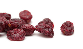 Dried cranberry isolated on white stock photography