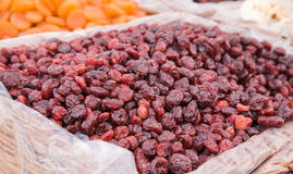 Dried cranberry for sale Royalty Free Stock Photos