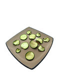 Dried cucumbers on a plate. Royalty Free Stock Image