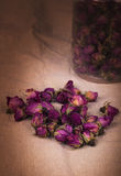 Dried damask rose. Royalty Free Stock Photo