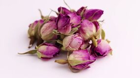 Dried damask rose rotate 360 degrees