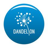 Dried dandelion logo icon blue. Dried dandelion logo icon. Simple illustration of dried dandelion icon for any design blue stock illustration