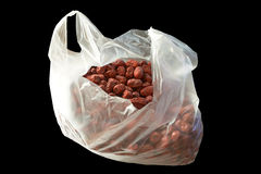 Dried date fruit in plastic bags Royalty Free Stock Image