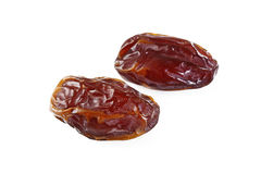 Dried date fruit. On white background royalty free stock photography