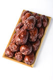 Dried date fruit Stock Image