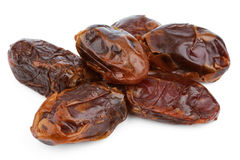 Dried date fruits. Isolated on white background Royalty Free Stock Images