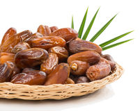 Dried date fruits in a dish Stock Photography
