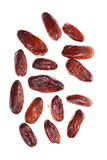 Dried date fruits isolated Royalty Free Stock Photos