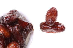 Dried date fruits isolated Stock Images