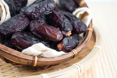 Dried date palm fruits or kurma Stock Photos