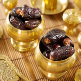 Dried date palm fruits or kurma Stock Photo