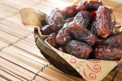 Dried date palm fruits Royalty Free Stock Photography