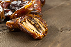 Dried date palm fruits or kurma, ramadan food Stock Image