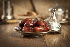 Dried date palm fruits or kurma, ramadan ( ramazan ) food Stock Images