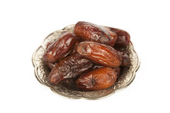 Dried date palm fruits or kurma, ramadan ( ramazan ) food Royalty Free Stock Image