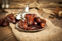 Dried date palm fruits or kurma, ramadan ( ramazan ) food Stock Photo