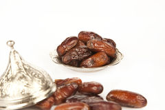 Dried date palm fruits or kurma, ramadan ( ramazan ) food Stock Photography