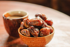 Dried date palm fruits Stock Photography