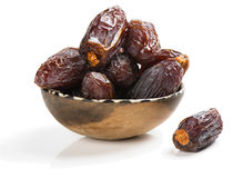 Dried date palm tree fruits close up Stock Photo