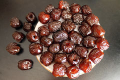Dried dates Royalty Free Stock Photos
