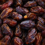 Dried dates close up Royalty Free Stock Photos