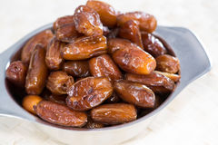 Dried Dates (close-up shot) Stock Photography
