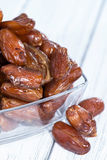 Dried Dates (close-up shot) Stock Image
