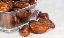 Dried Dates (close-up shot) Royalty Free Stock Images