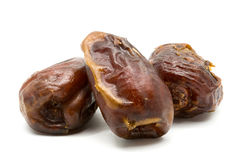 Dried dates fruit. Isolated on white background Stock Photography