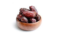 Dried dates. Fruits of date palm Royalty Free Stock Photo