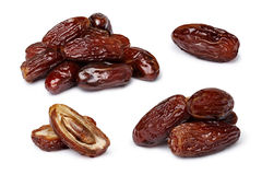 Dried dates isolated set Stock Images
